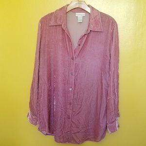 Soft Surroundings plush velvet shirt